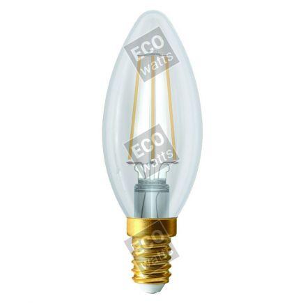 Ecowatts - Flamme C35 Filament LED 4W E14 4000K 440Lm Cl.