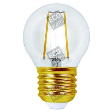 Ecowatts - Sphérique G45 Filament LED 4W E27 4000K 440Lm Cl.