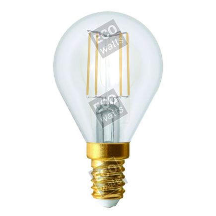 Ecowatts - Sphérique G45 Filament LED 4W E14 4000K 440Lm Cl.