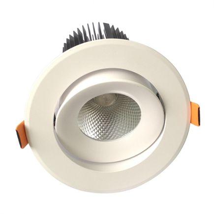 Cavell - Spot encastré inclinable LED Ø142x118 enc.Ø110 25W 3000K 2130lm 36° blanc