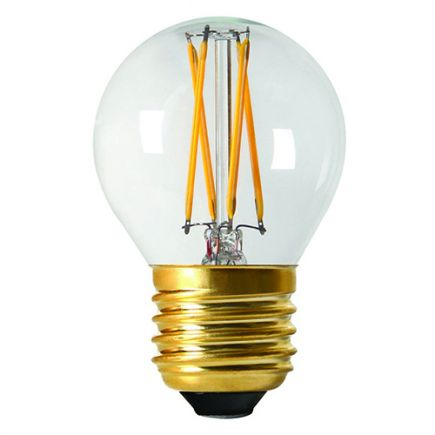 Sphérique G45 Filament LED 5W E27 2700K 610Lm Cl.