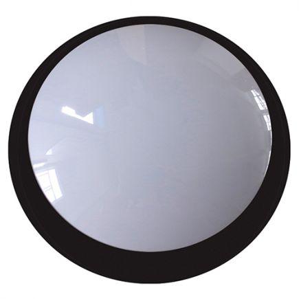 Lenie - EcoWatts - Plafonnier LED IP 66 Ø355x118 20W 4000K 1800lm 160° noir