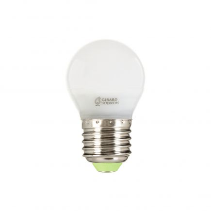 Sphérique G45 LED 330° 5W E27 2700K 400Lm Dim. Dépolie