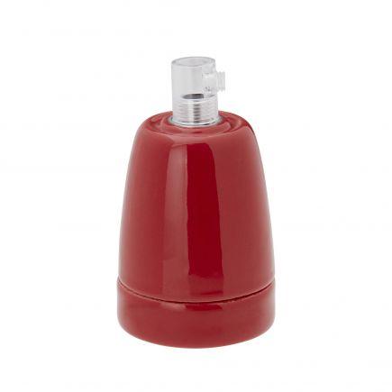 Douille porcelaine E27 rouge