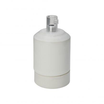 Douille porcelaine E27 blanc antique
