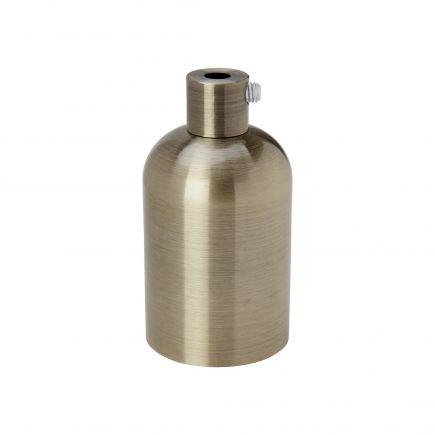 Douille aluminium E27 lisse patinée