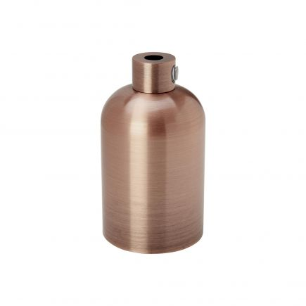 Douille aluminium E27 lisse cuivre