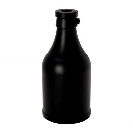 Douille bouteille aluminium E27 noire
