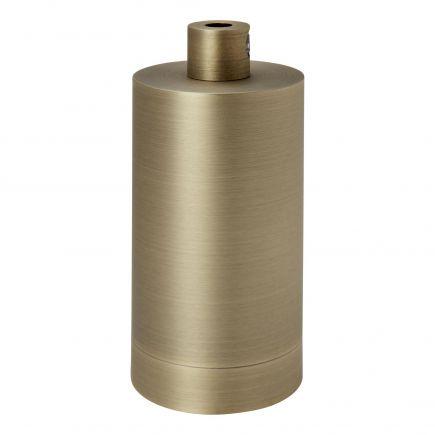 Douille cylindre aluminium E27 or antique
