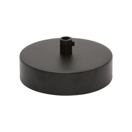 Rosace acier ø 100 mm noir + serre-câble ø 6mm