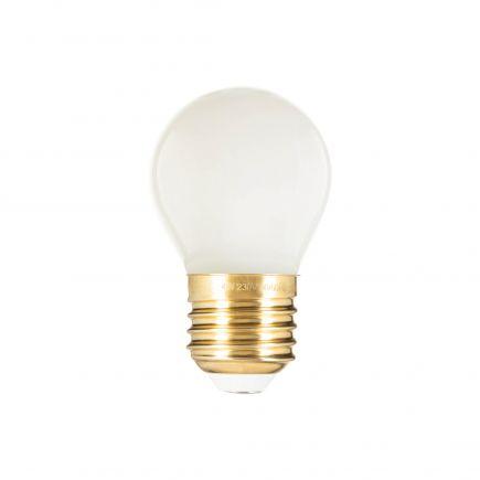 Sphérique G45 Filament LED 4W E27 2700K 400Lm Opaline