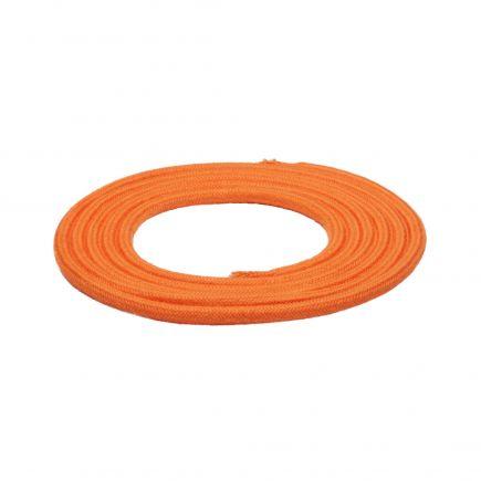 Câble textile rond double isolation 2 x 0,75 mm2 orange L. 2 m ø 6 mm