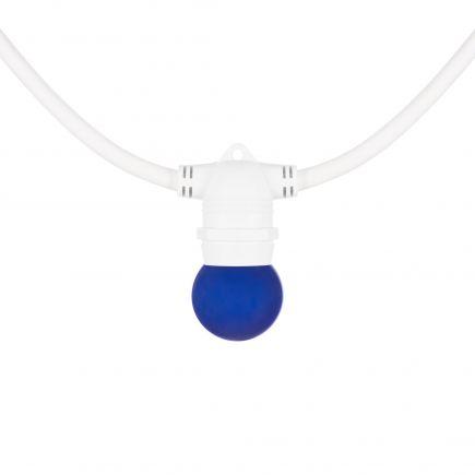 Sphérique LED 1W B22 30Lm Bleu