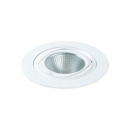 Simba - Spot encastré orientable LED Ø168x122 enc.Ø150 35W 4000K 3000lm 36° blanc
