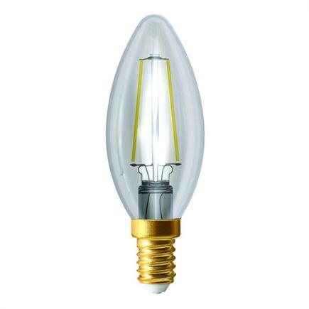 Ecowatts - Flamme C35 Filament LED 2W E14 2700K 220Lm Cl.