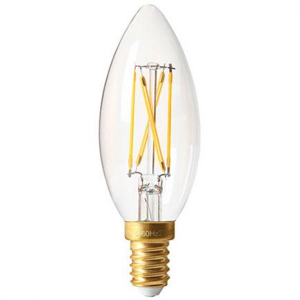 Flamme C35 Filament LED 4W E14 4000K 350Lm Dim. Cl.