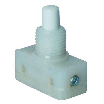 Inter. à poussoir L.24.2mm l.12mm H.9.7mm blanc