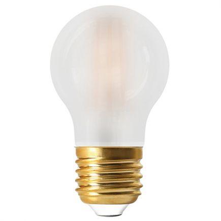 Sphérique G45 Filament LED 6W E27 2700K 780lm Dim. Mat