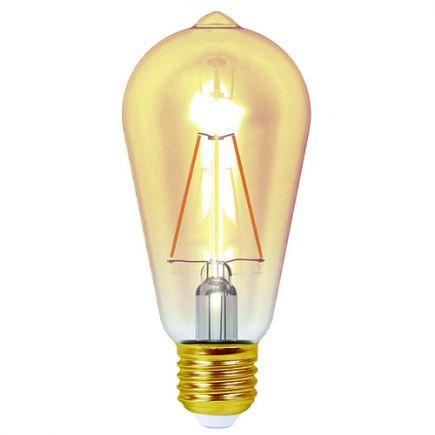 Ecowatts - Edison Filament LED 4W E27 2200K 320Lm Dim. Amb.