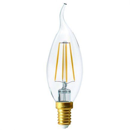 """Ecowatts - Flamme """"Coup de Vent"""" Filament LED 4W E14 2700K 470Lm Cl."""