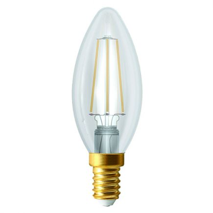 Ecowatts - Flamme C35 Filament LED 4W E14 2700K 420Lm Cl.