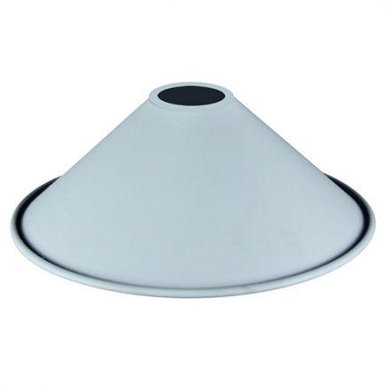 Abat-jour métal conique ø220mm blanc mat